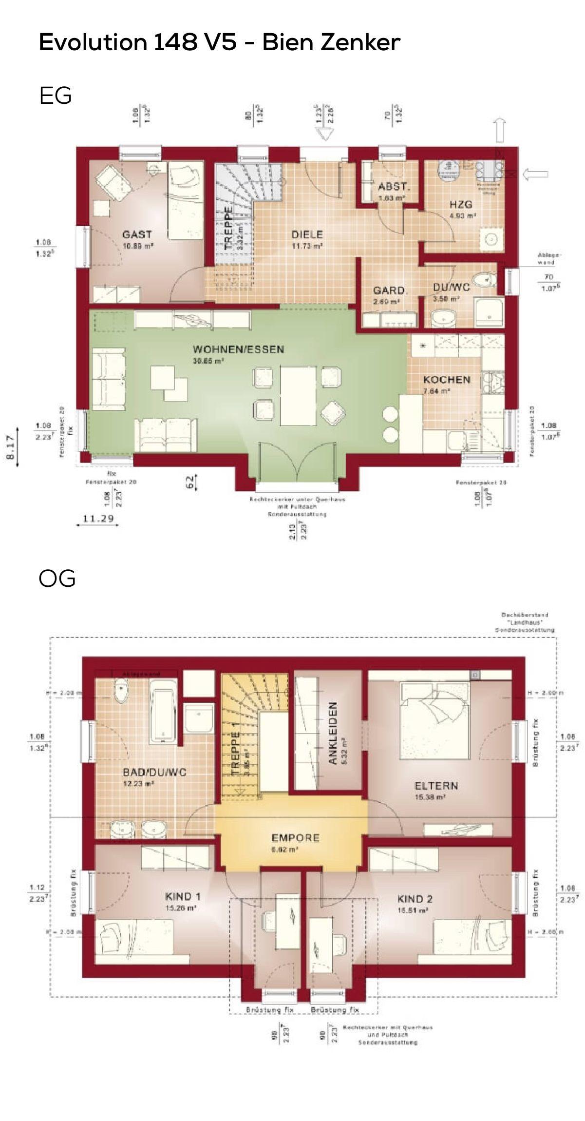 Grundriss Einfamilienhaus mit Satteldach Architektur ...
