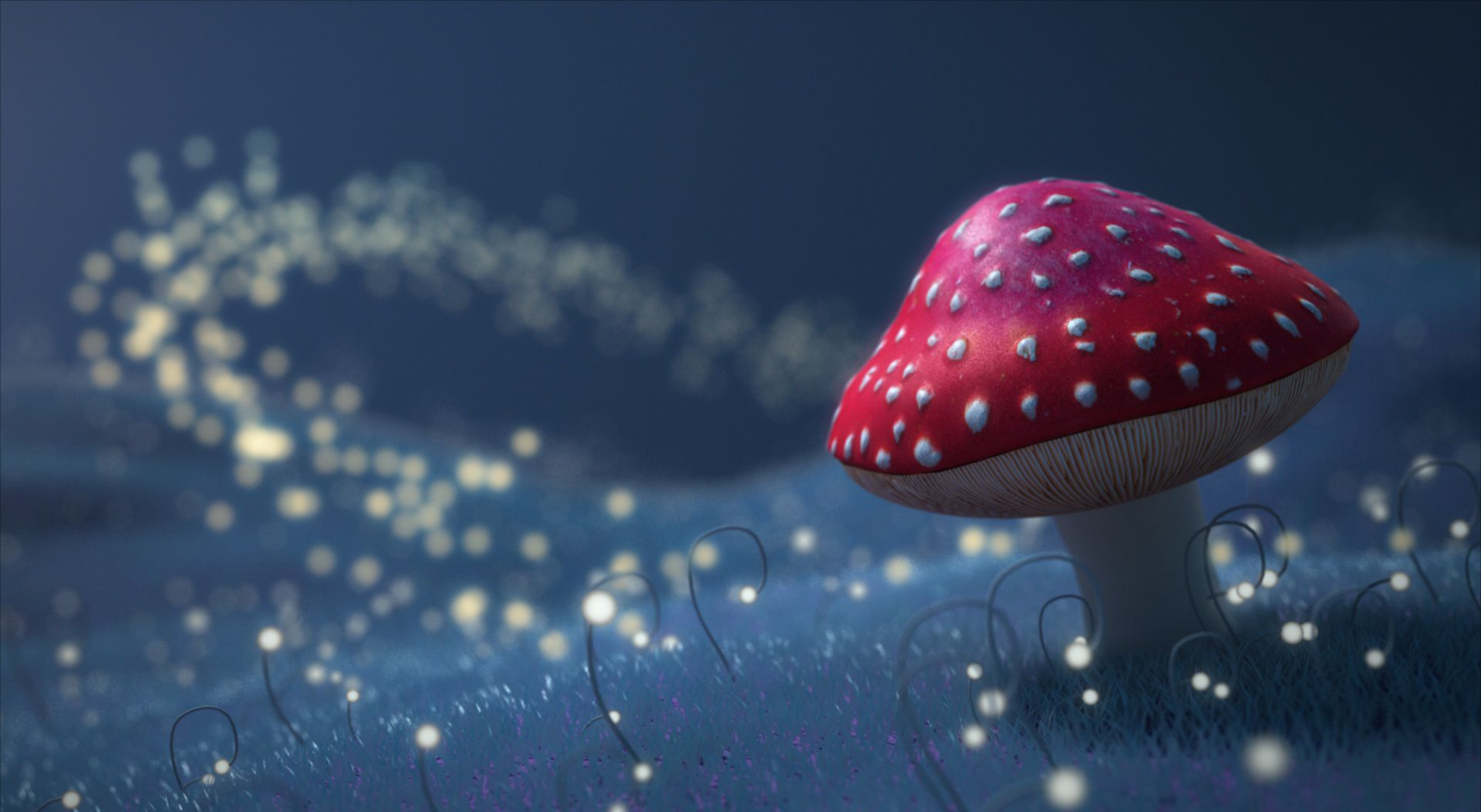 mushroom in a field of stars artsy pinterest