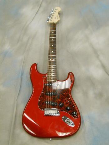 Fender Stratocaster Guitars Guitar Center >> Used In Store Used Used Fender Stratocaster Std Red W B
