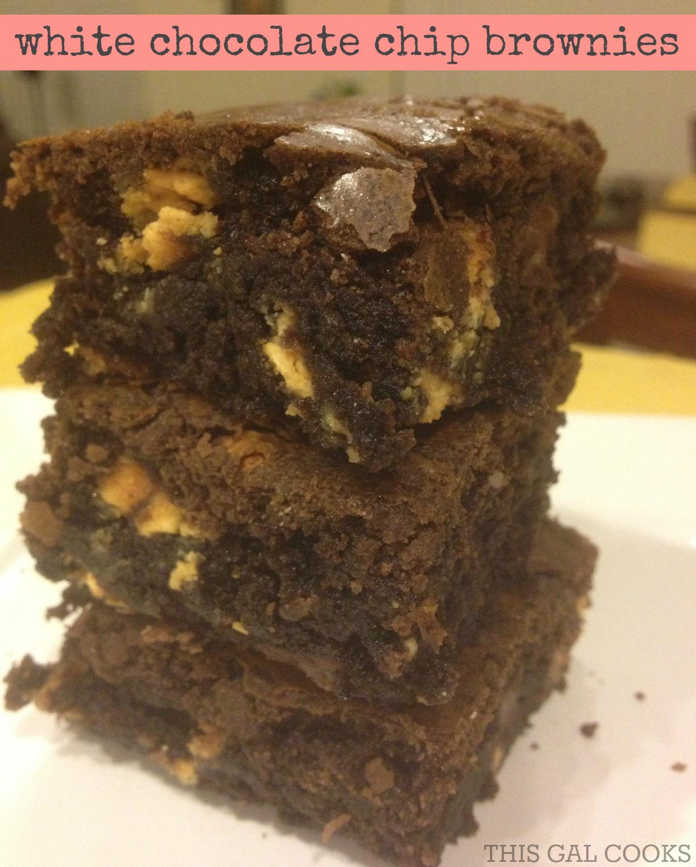 White Chocolate Chip Brownies