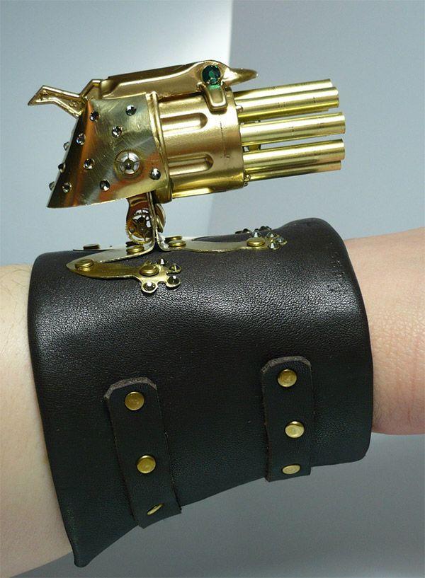 Lady Froggy Steampunk Gatling Gun for Dainty Death Dealing for Steampunk Cosplay