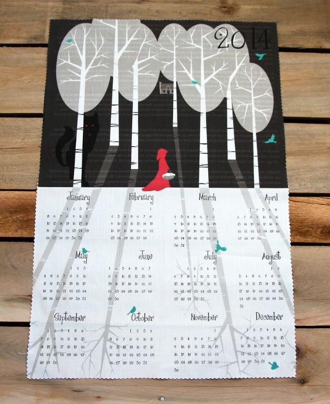 Julies fairytale calendar winner of the 2013 tea towel calendar design challenge