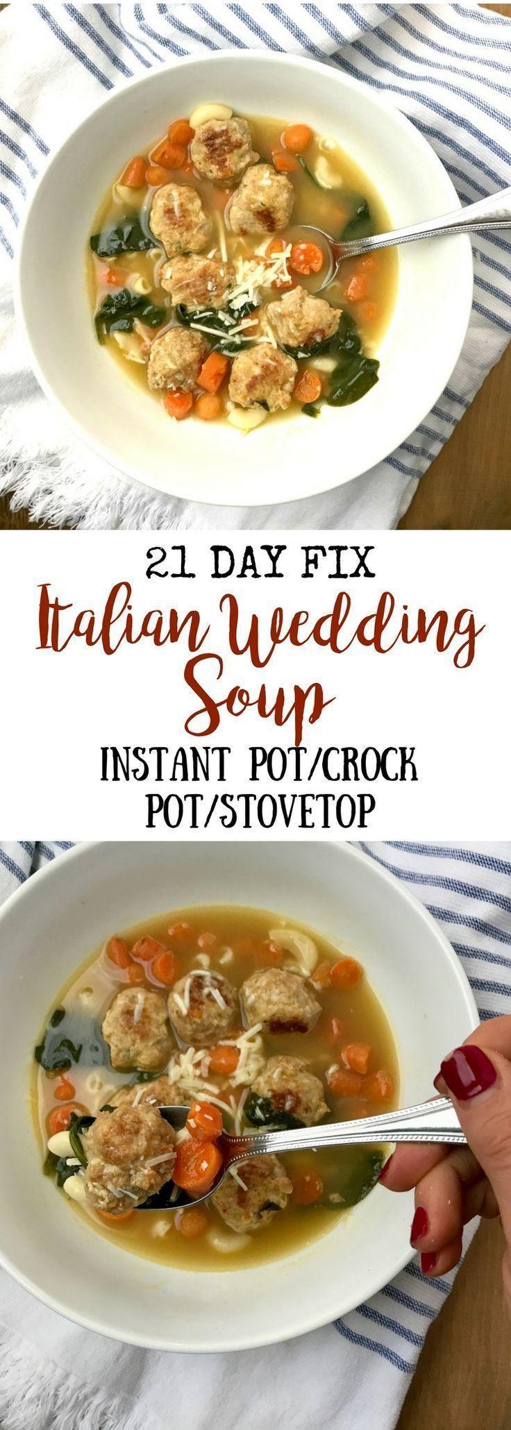 Italian Wedding Soup {21 Day Fix} Make 6 cups chicken