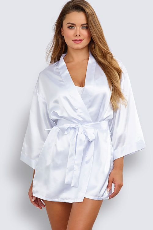 Dreamgirl Satin Chemise with Robe  210128e2a