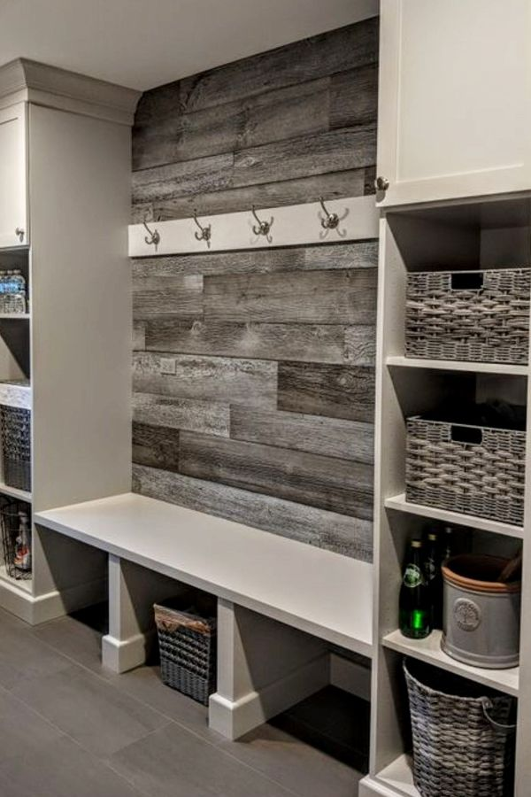 Mudroom Ideas and Mudroom Entryway Ideas in farmhouse style ST1202019 DIY mudroom designs for your laundry area entryway garage closet and more Rustic farmhouse mud rooms...