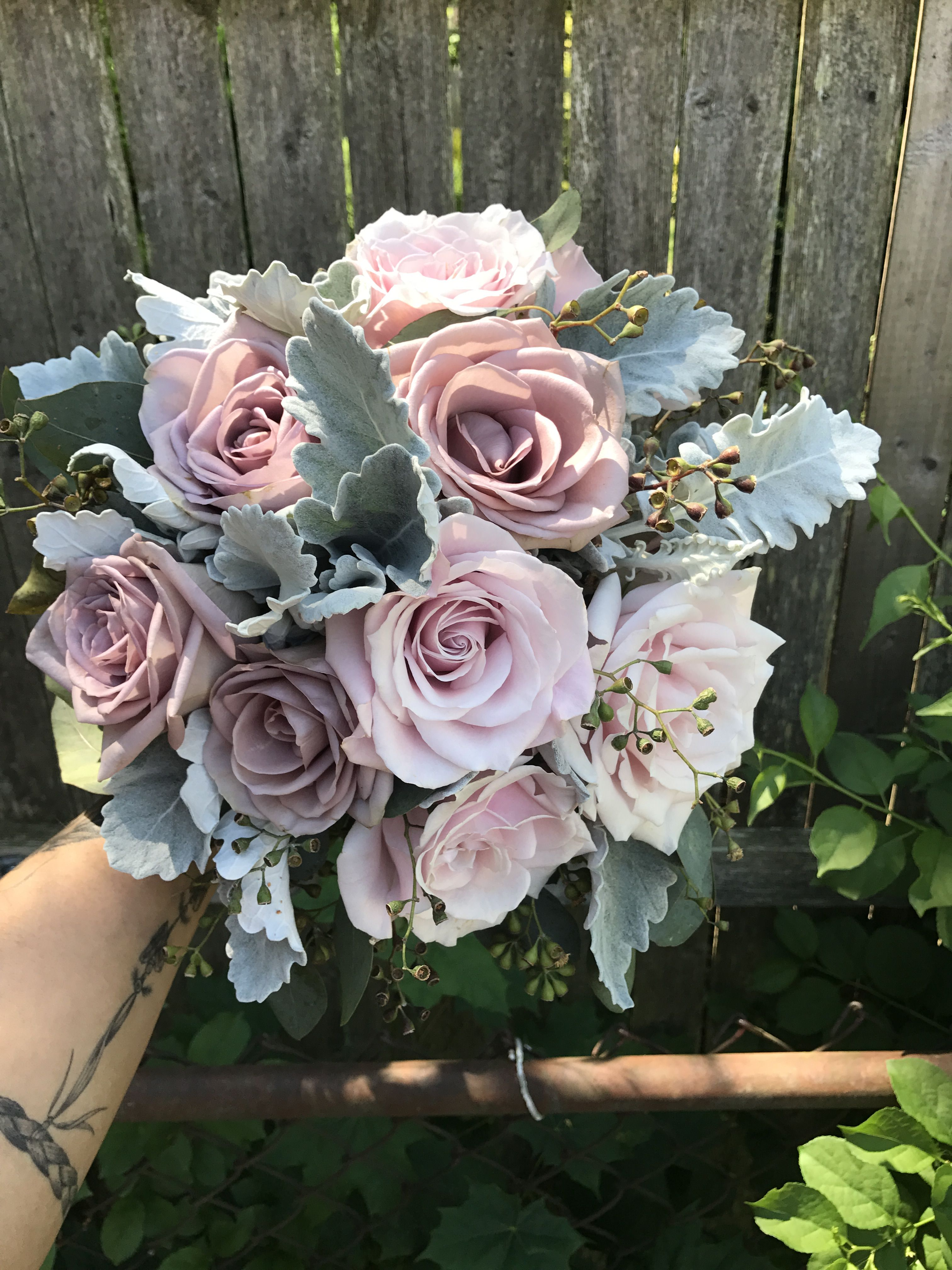 Dusty Rose And Lavender Bouquet
