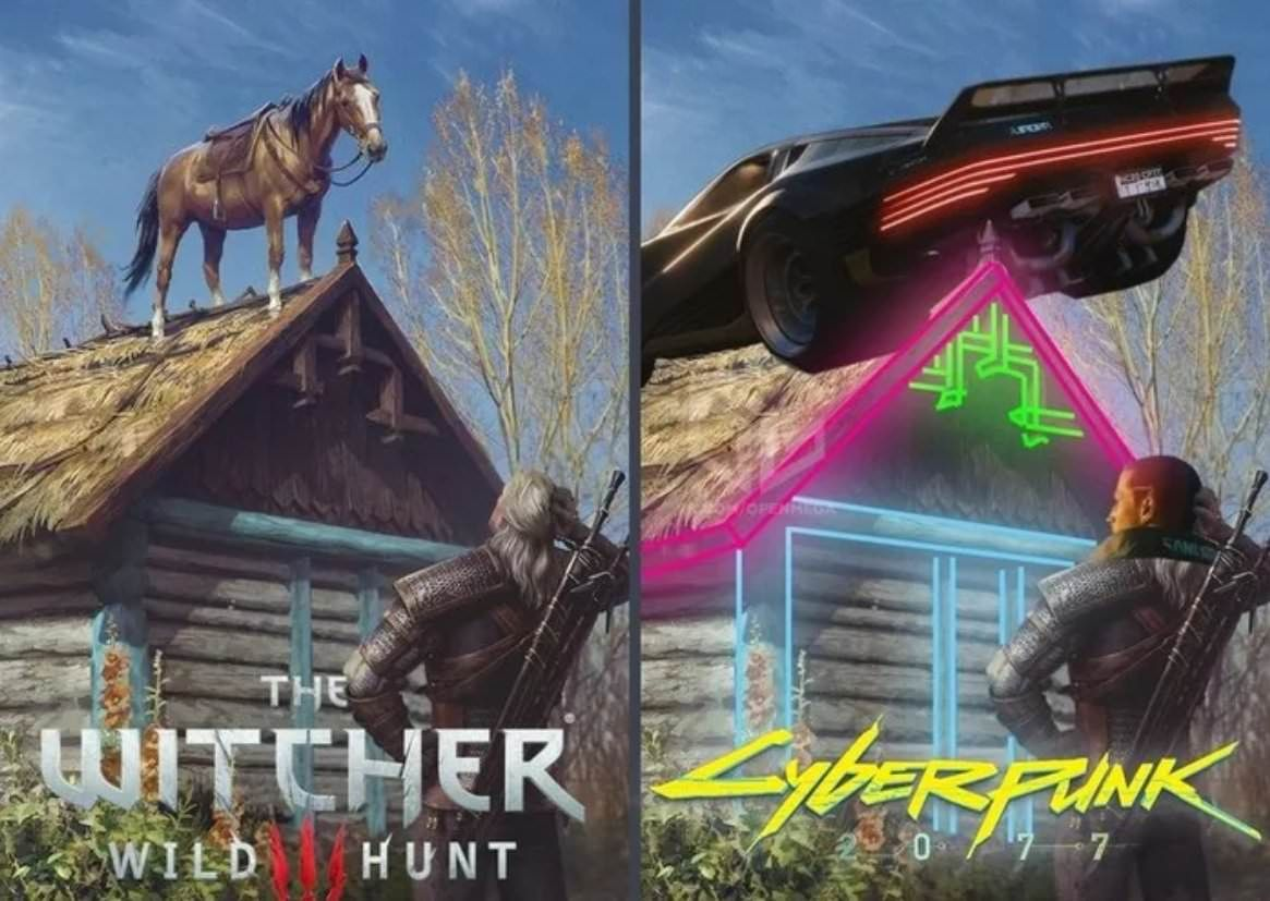 Witcher vs Cyberpunk 2077 Witcher, Memes engraçados, Memes