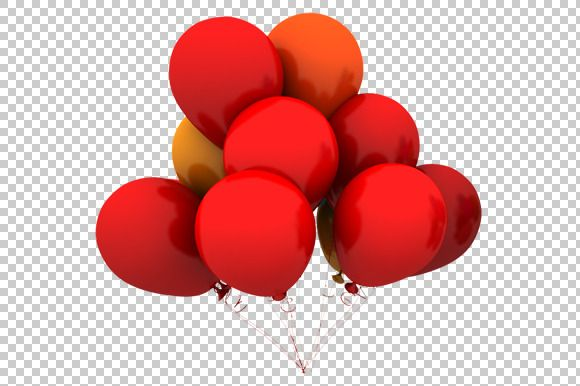 Red Balloons 3d Render Png Red Balloon Balloons White Balloons