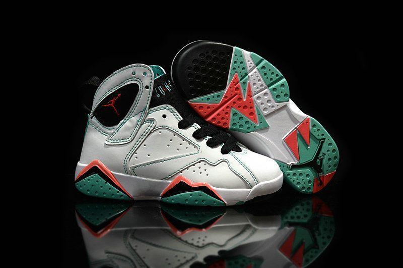 separation shoes c998b 393ab Kids Air Jordan 7 Men Verde