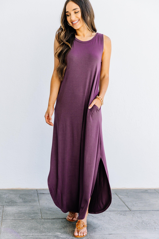 All Day Adventures Eggplant Purple Tank Maxi Dress Maxi Dress Maxi Tank Dress Maxi Dresses Casual [ 3000 x 2000 Pixel ]