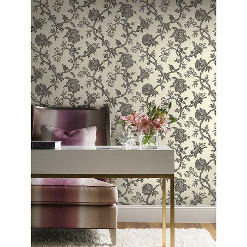 Williamsburg Ii 27 X 27 Quot Arcadia Floral Texture Wallpaper