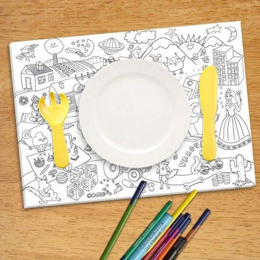 Coloroset -Set de table à colorier