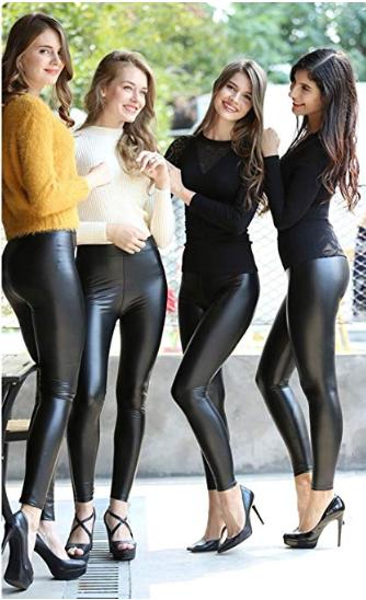 6b17558173edfd Four Cuties in black Wetlook Leggings #laurethdysiac | #foiled ...