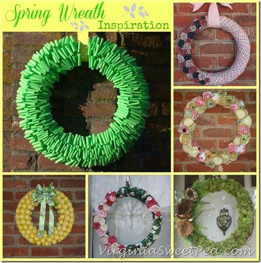Spring Wreath Inspiration by virginiasweetpea.com