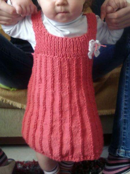 61237c1cebe Πλεκτό παιδικό φόρεμα.Σεμινάριο Πλέξιμο με Βελόνες | our creations ...