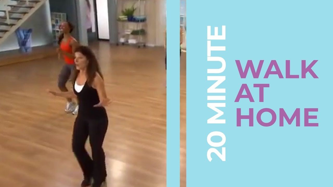 20 Minute Walk At Home Exercise Fitness Videos At Home Exercises At Home Workouts Youtube Workout Videos