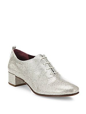 Marc Jacobs Betty Glitter Lace-Up Oxfords  70bf10d81f