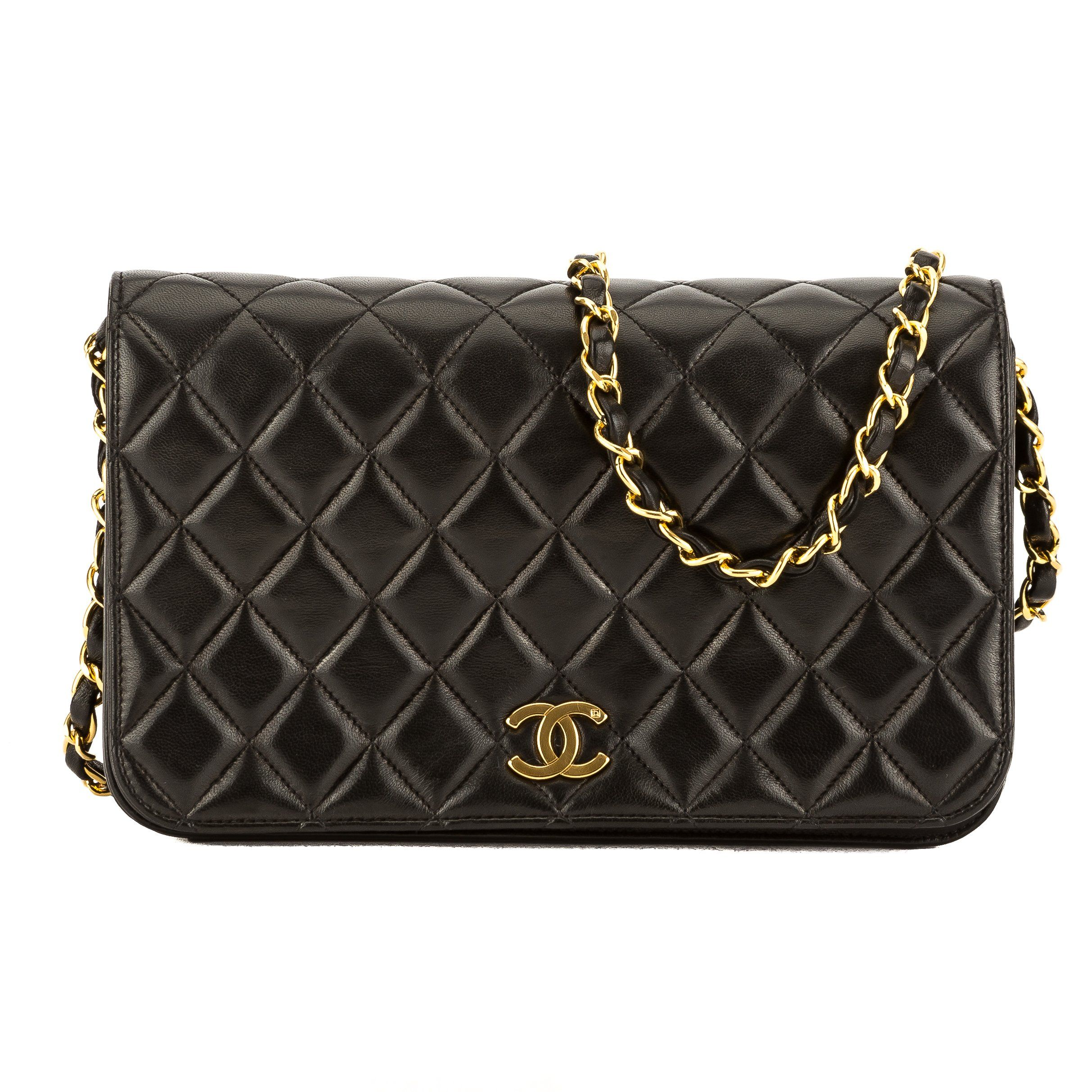 8831c496b9fb Chanel Black Quilted Lambskin Leather Chain Clutch Bag (Pre Owned ...