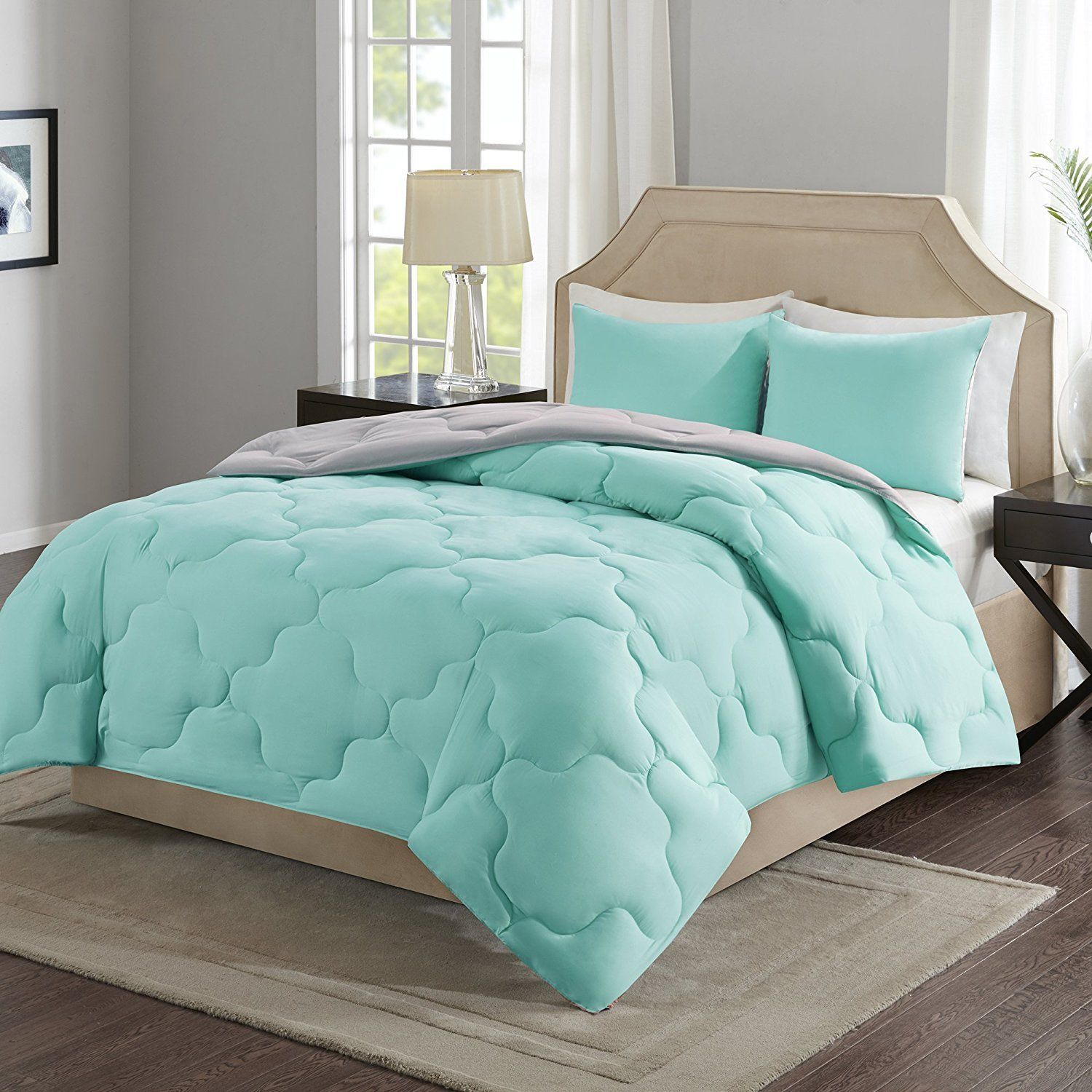 Amazon Reversible Goose Down Alternative Comforter Mini Set  2