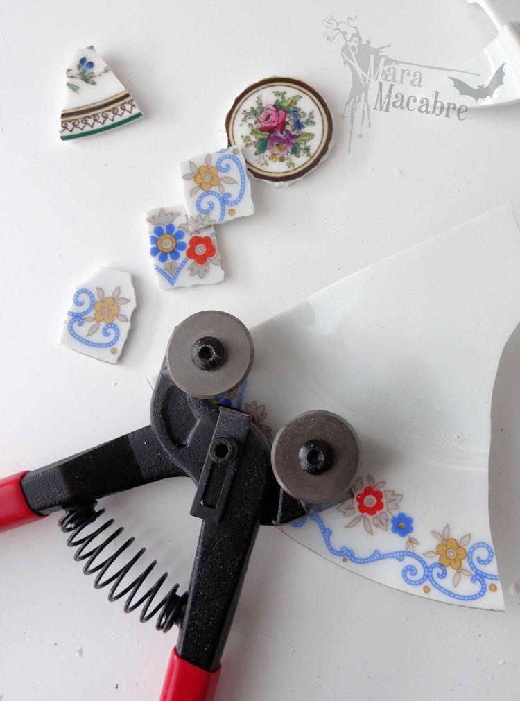 Mara Macabre Broken china jewelry, Bead work jewelry