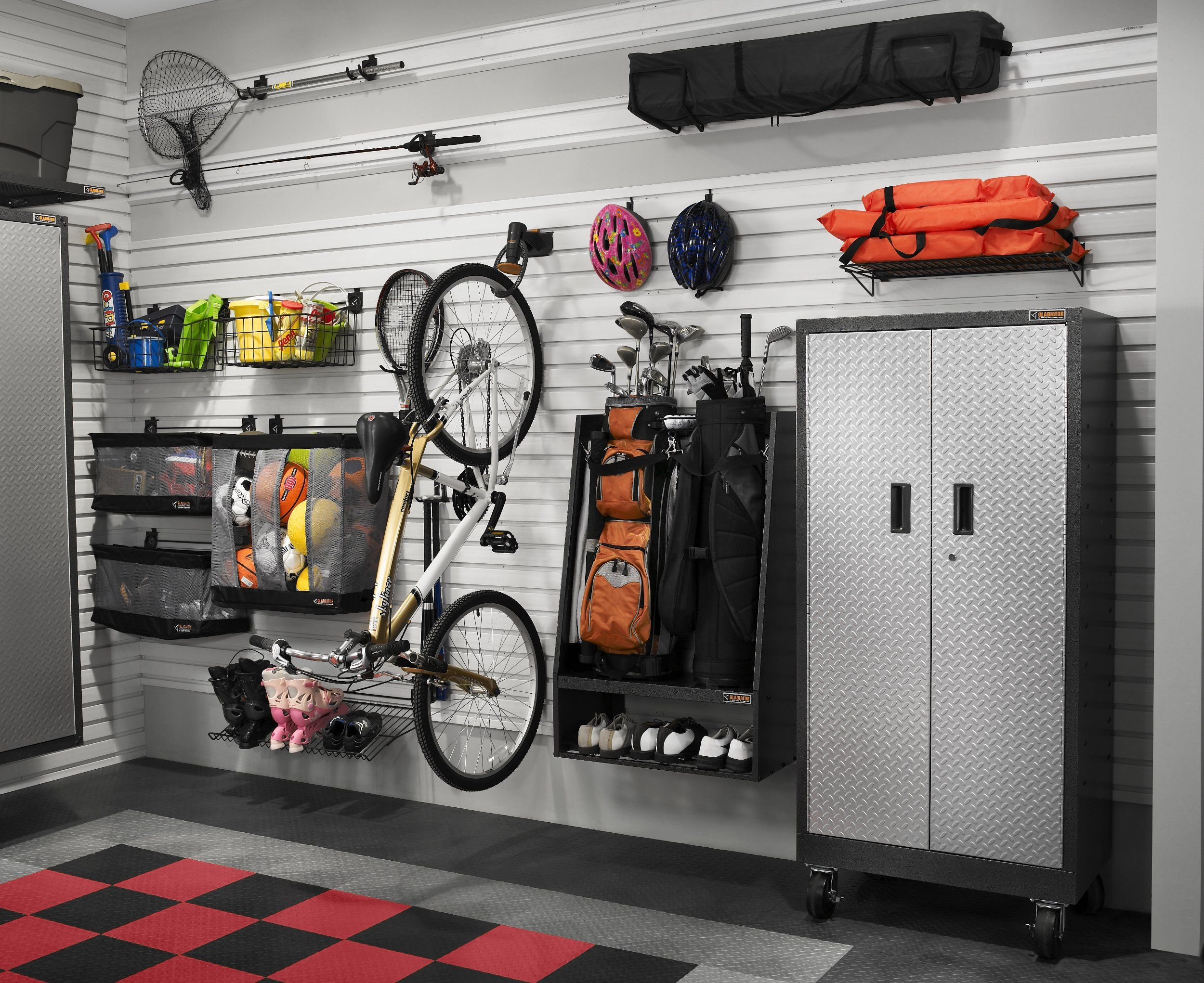 depot shelving home size overhead shelves wall hanging full mounted hooks of garage heavy duty wire cabinets systems ikea walmart gladiator storage units