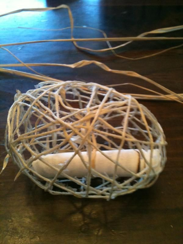 """Thread egg with message """"superb snail mail"""" (more at website)"""