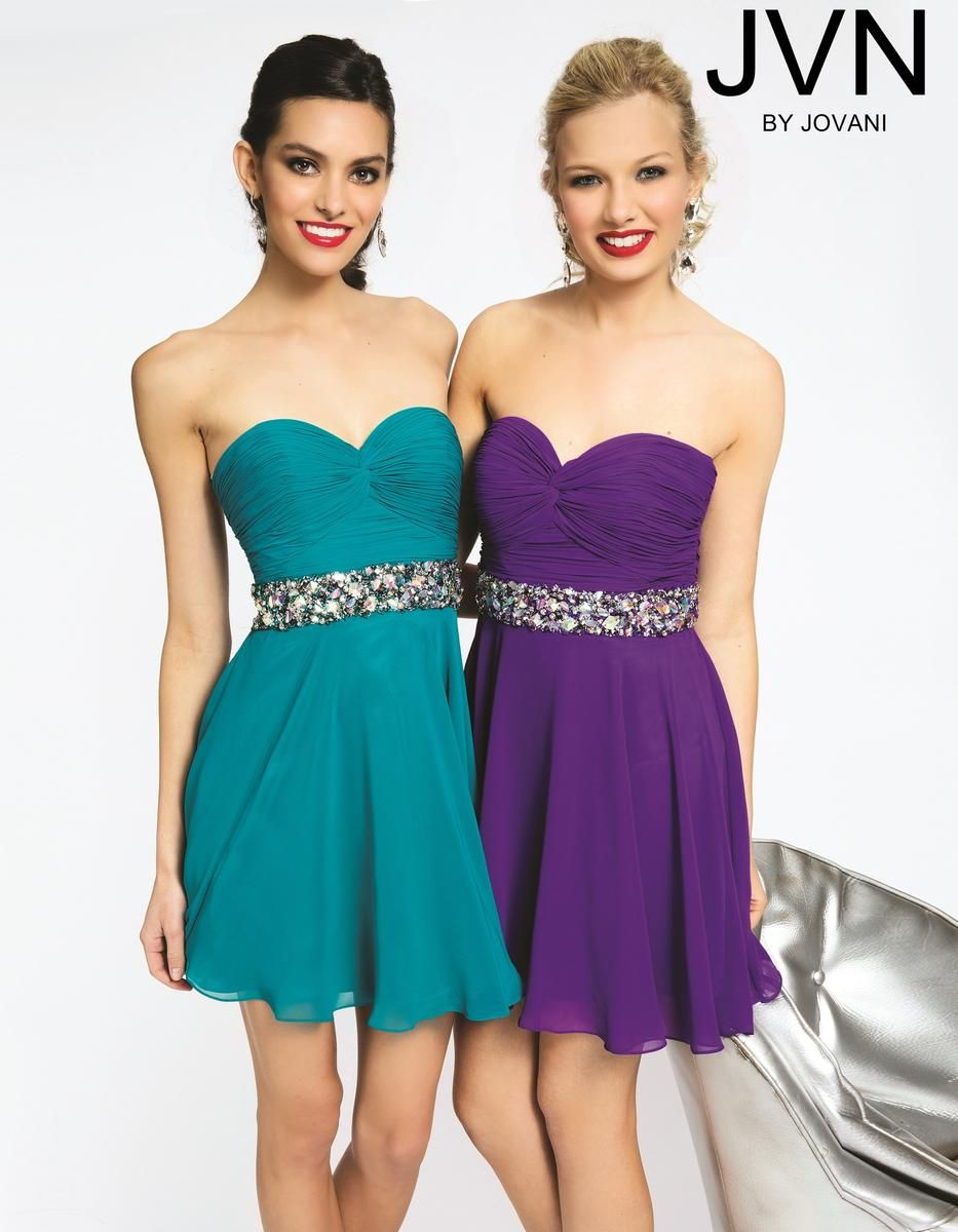 JVN by Jovani Short Homecoming Dress jvn90088 | Blue Bandit ...