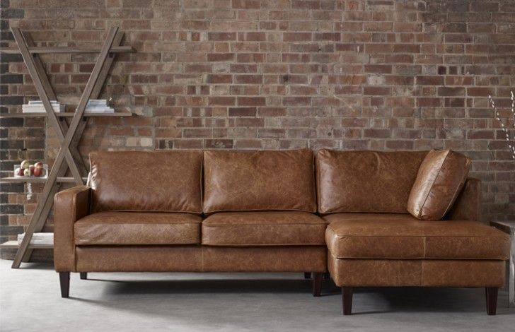 Drake Leather Chaise Sofa Right Hand Facing Chaise Sofa Leather Corner Sofa Leather Chaise Sofa