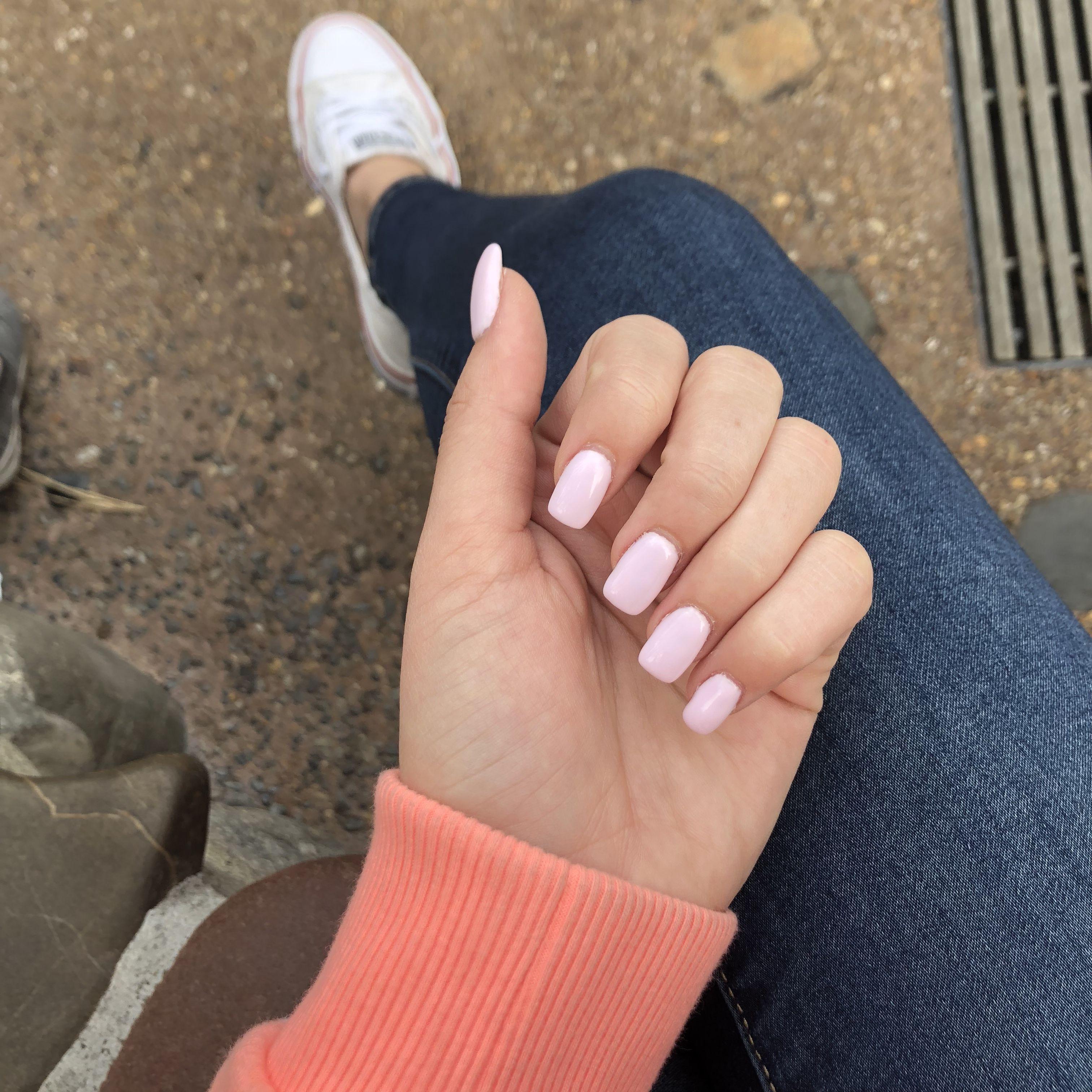 Baby Pink Nail Color Decent Square Nail Shape Beautytipsfornails Baby Pink Nails Square Acrylic Nails Pink Nail Colors