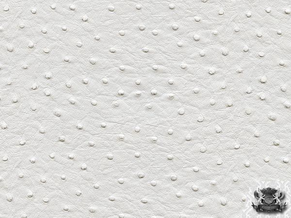 Vinyl Ostrich White Fake Leather Upholstery Fabric By The