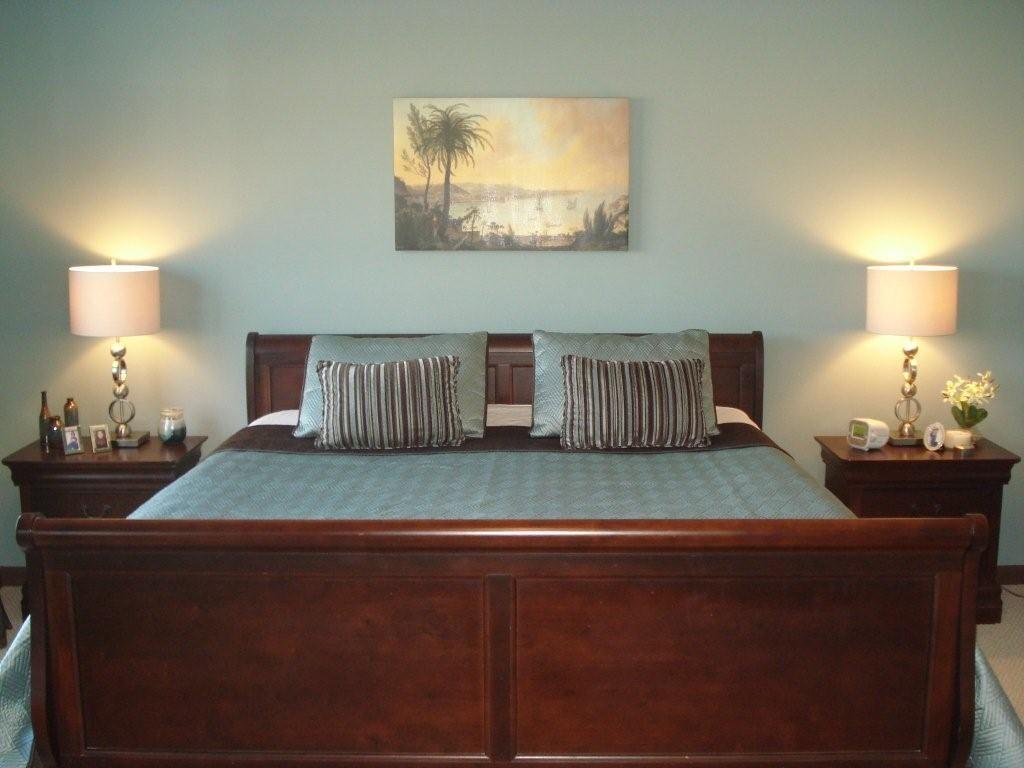inspiring master bedroom paint color schemes | teal paint color for teal and brown bedroom | after master ...