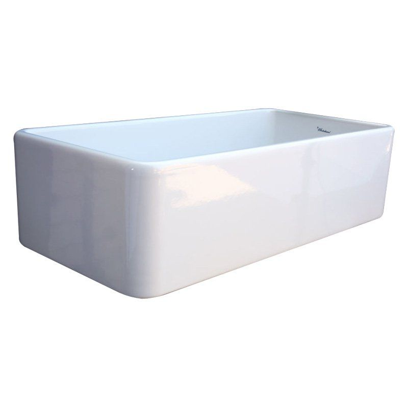 Whitehaus Large Quatro Alcove Wh3618 36 In Single Basin Sink With