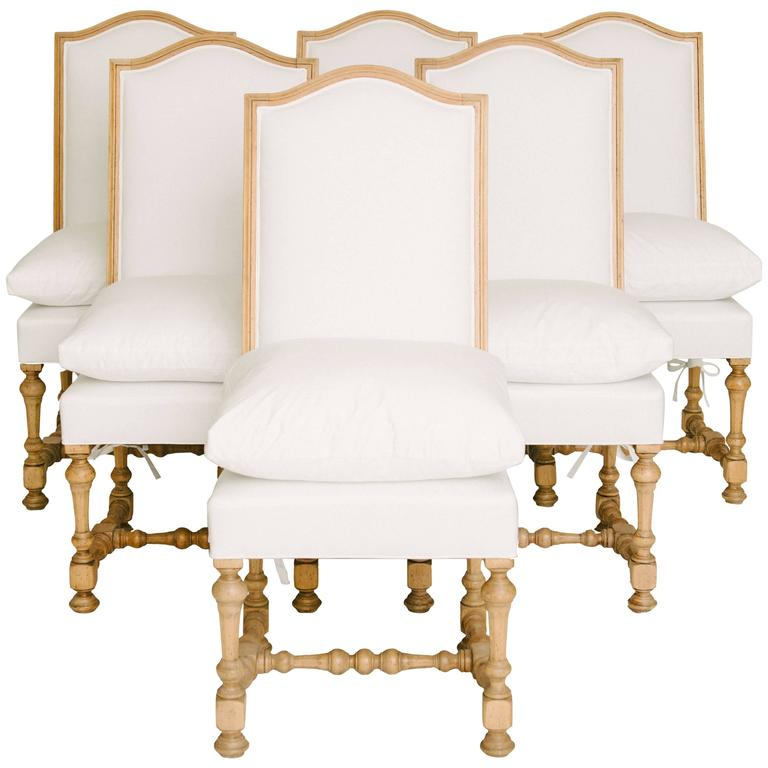 Amazing Set Of Six 19th Century Louis XIV Style Dining Chairs
