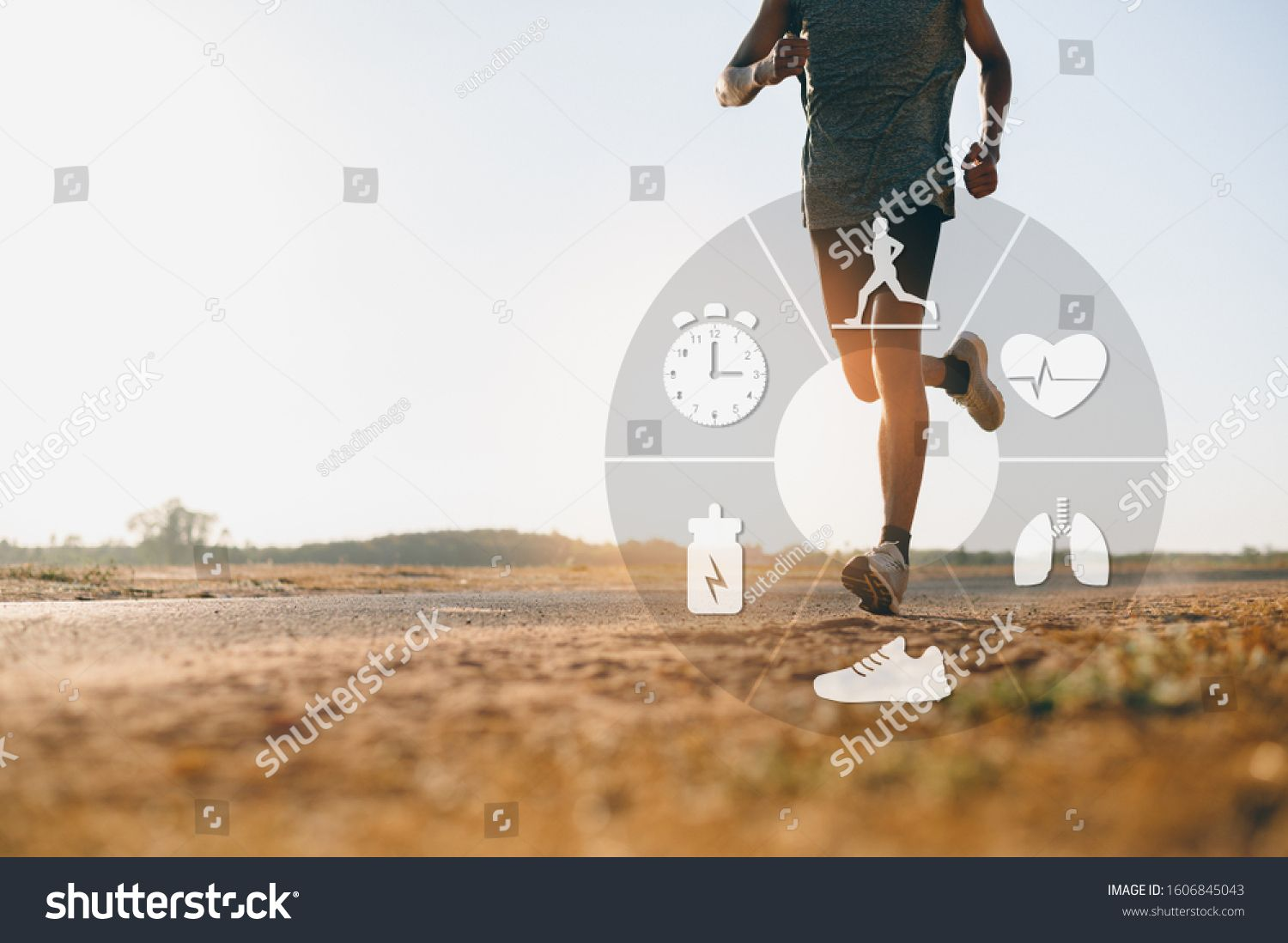Runner Man Running For Healthy Concept Of The Technology To Check Health While Exercising Ad Ad Running Health Running Healthy Man Running Stock Photos