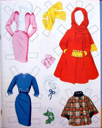 whitman barbie paper doll 1962 cut outs
