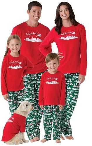 5b2270ffb7 Family Christmas Jammies Pajamas - Red and Green Reindeer