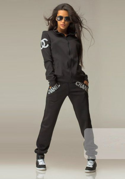 5239b0ceff63 Sexy CC Womens Black colour famous active tracksuit