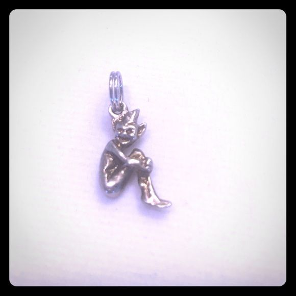 Sterling silver two faced ferry Loki charm Sterling silver ferry charm Jewelry