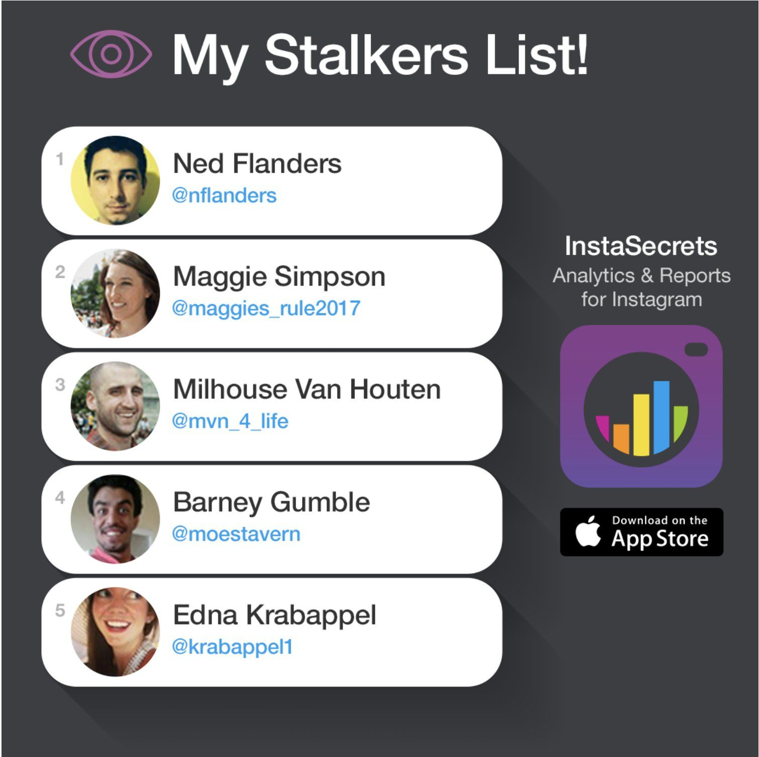 The App Finds Out Who Stalks Your Instagram Stalking App Master