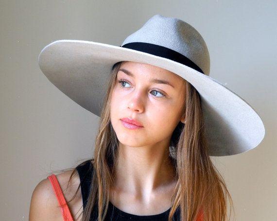 779da30c284 Love these hats! Wide Brimmed Fedora Hat Women Fall Fashion Winter by  KatarinaHats