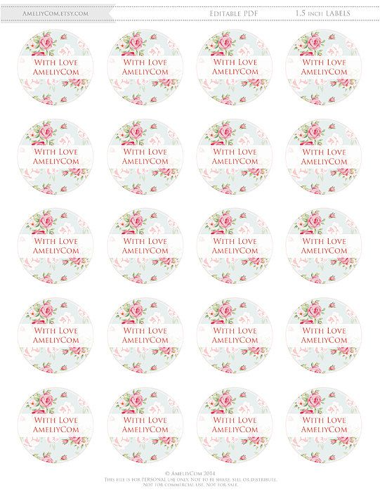 photo relating to Printable Stickers Labels identified as Printable Labels, Stickers, Tags Shabby Stylish Editable Do-it-yourself
