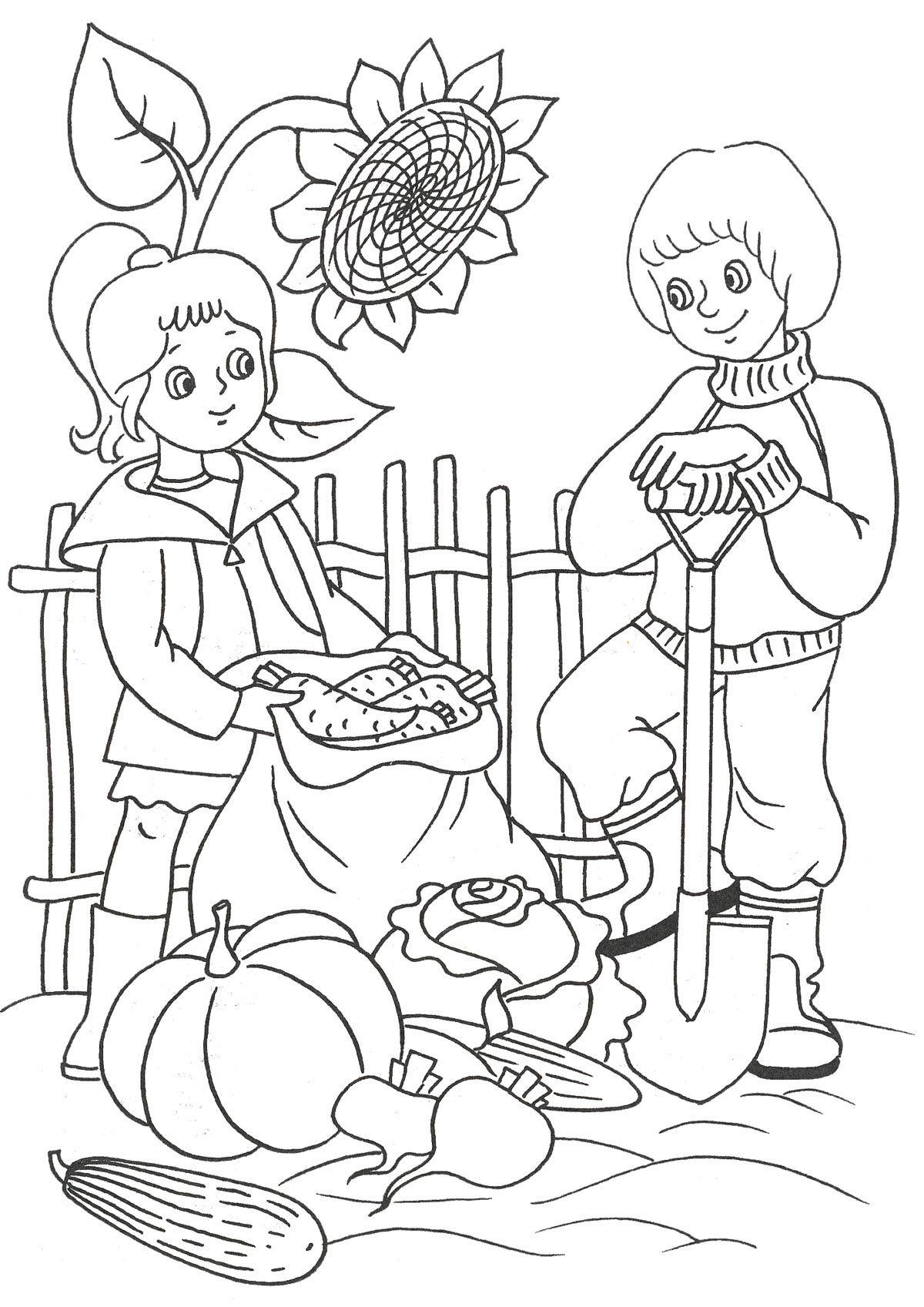 Прощение открытки, картинки об осени для детей начальной школы раскраски