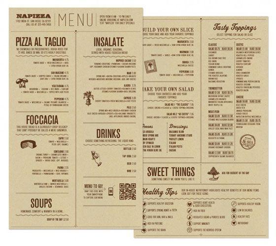 25 inspiring restaurant menu designs designswan com creative