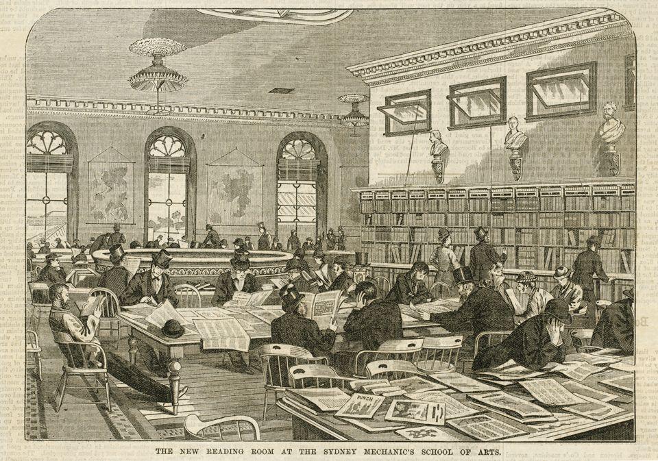 The new reading room at the Sydney Mechanics' School of