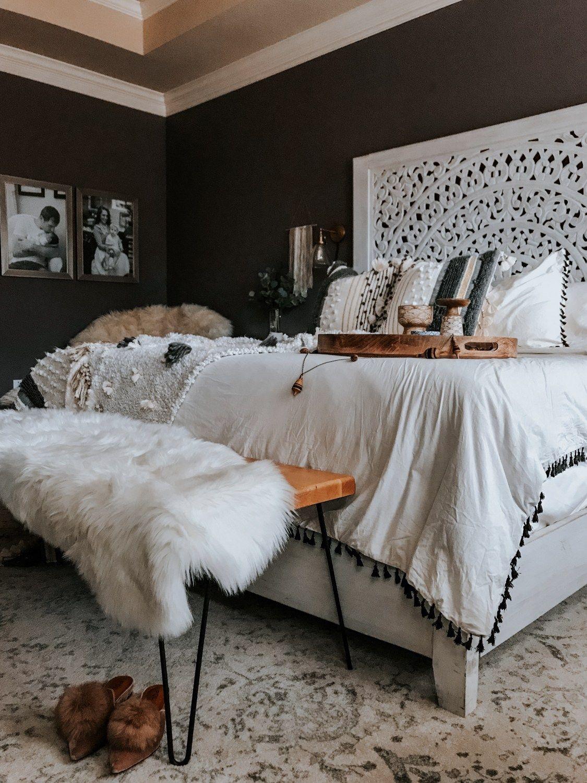 bohemian master bedroom