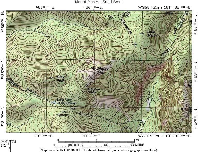 Small Scale Mount Marcy Topographic Map Inspiring Images - Topographical map