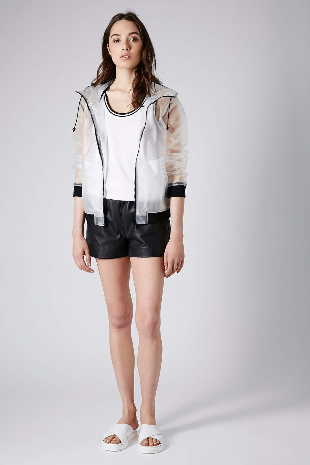 a3e837c2159 Topshop Misty Plastic Bomber Jacket in Transparent (clear)