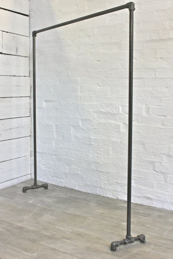 Would Be Good If They Could Come In Diffe Sizes Like Something Smaller Dark Steel Pipe Simple Elegant Freestanding Clothes Rail Rack