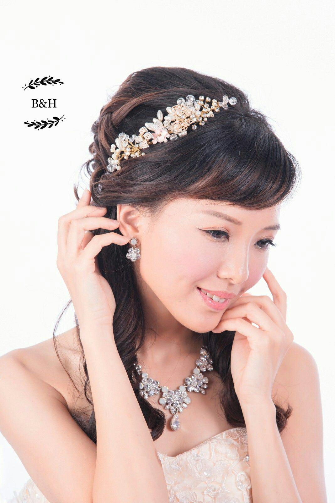b&h 設計的手工西式頭飾,適合晚裝禮服。人手制作,每個款式一件,是獨一