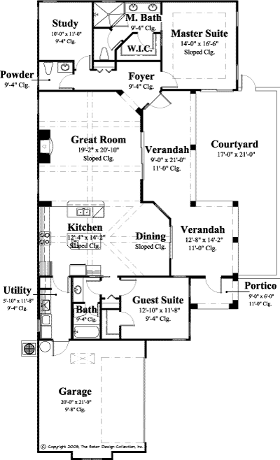 Empoli house plan narrow lot house plans luxury houses for Narrow lot luxury house plans